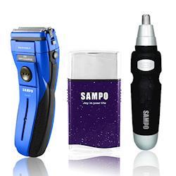 SAMPO聲寶 勁能水洗式雙刀頭電鬍刀超值3件組
