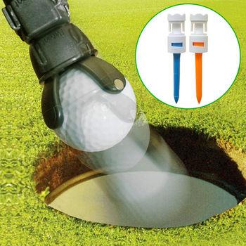 GREEN CADDY II 專利高爾夫不彎腰神奇撿球器+ DURA TEE II 高爾夫飛更遠超耐柔軟皇冠球釘2入組
