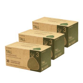 美國NINESTARS專業收納垃圾袋40L-超值三入組