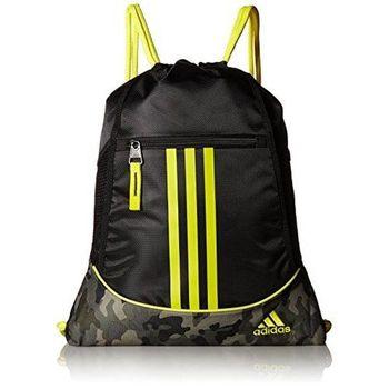 【Adidas】2017時尚聯盟黑黃色抽繩後背包(預購)