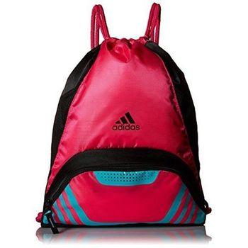 【Adidas】2017時尚團隊速度運動熱粉紅藍色抽繩後背包(預購)