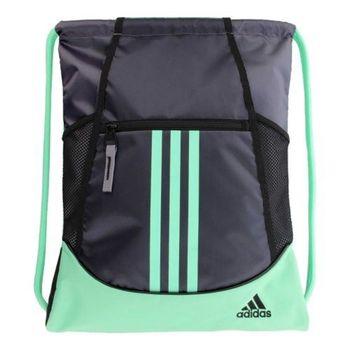 【Adidas】2017時尚聯盟木炭綠色抽繩後背包(預購)