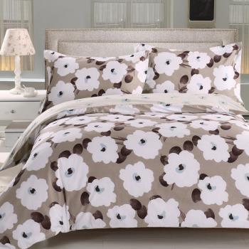 《HOYACASA瑪莎之戀》雙人四件式抗菌精梳棉兩用被床包組