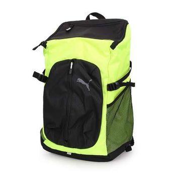 【PUMA】APEX後背包-雙肩包 電腦包 旅行包 行李包 登山 黑螢光黃