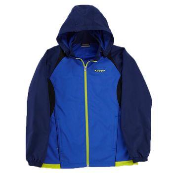 KAPPA義大利時尚UV-CUT單層風衣外套(可拆帽)~經典藍/青藍
