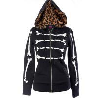 『摩達客』美國艾薇兒品牌 Abbey Dawn 黑色骷髏趣味帽T夾克