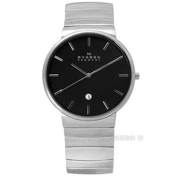 SKAGEN / SKW6109 / 北歐丹麥極簡紳士不鏽鋼手錶 黑色 40mm