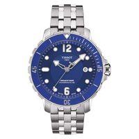 TISSOT 天梭 Seastar 1000 海洋之星潛水機械腕錶-藍/42mm T0664071104702