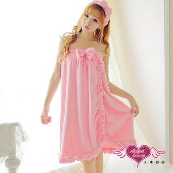 天使霓裳 保暖睡袍 甜美糖心 柔軟法蘭絨一件式連身睡裙(粉F) ZB6039