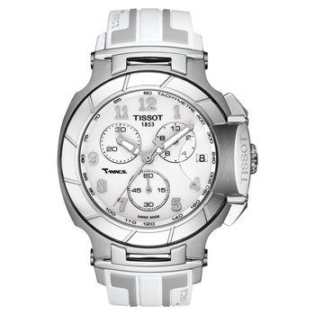 TISSOT T-RACE 急速計時腕錶-白/45mm T0484171701200