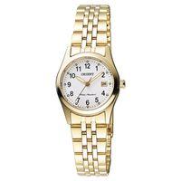 ORIENT 東方錶 優雅數字石英女錶-白x金/26mm WJFSZ46004W