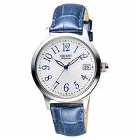 ORIENT 東方錶 花漾年華機械女錶-銀x藍/36mm WJFAC06003W