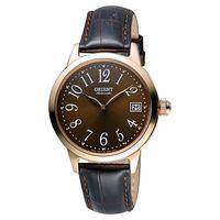 ORIENT 東方錶 花漾年華機械女錶-咖啡/36mm WJFAC06001T