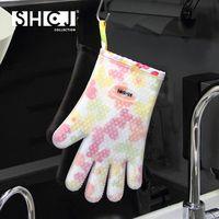 SHCJ生活采家五指型雙層防燙矽膠隔熱手套