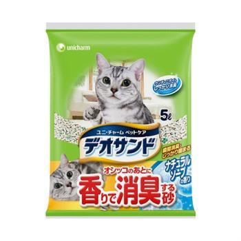 日本Unicharm消臭大師 尿尿後消臭貓砂-肥皂香 (5Lx4包)