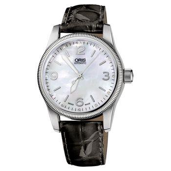 ORIS BIG CROWN 經典奢華真鑽腕錶-白貝/38mm 0173376494066-0751961