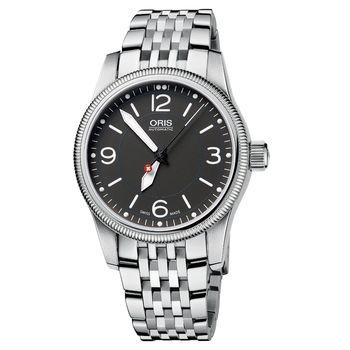 ORIS Hunter Team PS 飛行機械腕錶-灰/38mm 0173376494063-SetMB