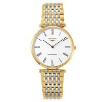 LONGINES 浪琴 La Grande 嘉嵐系列機械錶-白x雙色/36mm L49082117