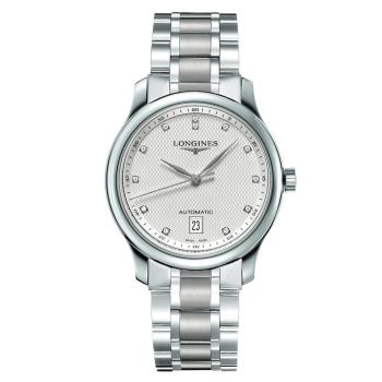 LONGINES 浪琴 Master 巨擘真鑽機械腕錶-銀/39mm L26284776