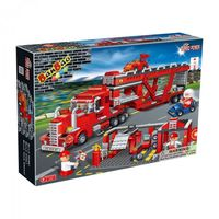【BanBao 積木】運輸系列-紅色貨櫃車 8762