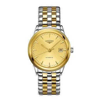 LONGINES FLAGSHIP 雅緻旗艦機械腕錶-金x雙色版/38.5mm L48743327