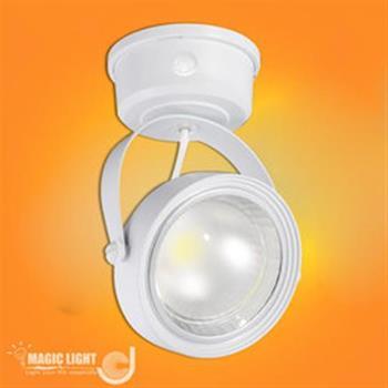 【光的魔法師 Magic Light】LED 感應投射燈 / 白殼 感應燈具