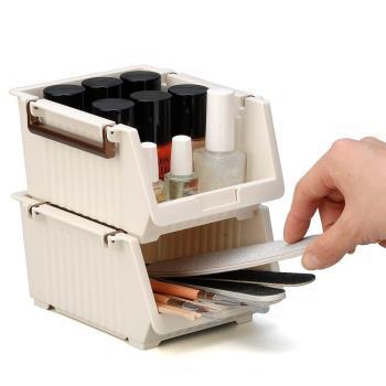 日本製造INOMATA桌用(寬型)收納籃4入裝