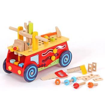 台灣【Mentari木製玩具】小工匠工具滑步車