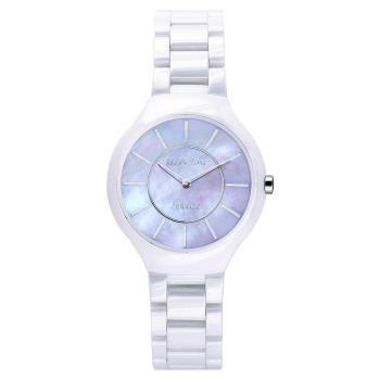 RELAX TIME RT33 嶄新系列陶瓷腕錶-紫貝x白/32mm RT-33-10L