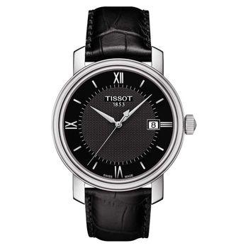 TISSOT Bridgeport 寶環系列經典石英腕錶-黑/40mm T0974101605800