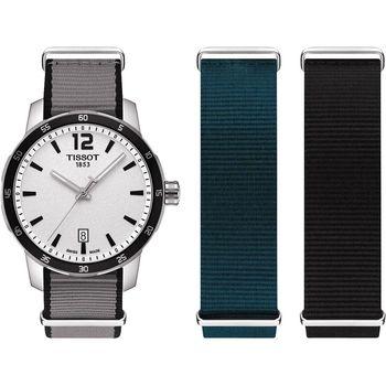TISSOT QUICKSTER NATO 活力運動腕錶-銀/40mm T0954101703700