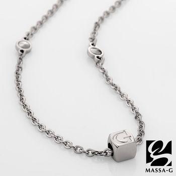 MASSA-G 字言字語金屬鍺錠白鋼項鍊