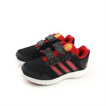 adidas MUFC CF K 運動鞋 兩個魔鬼氈 黑色 中童 no382
