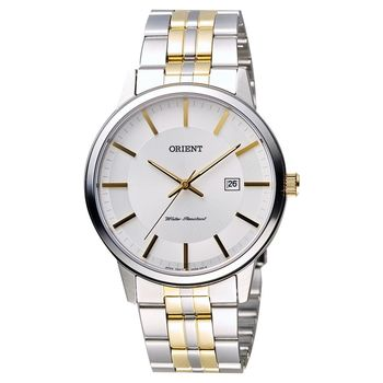 ORIENT 東方錶 復刻石英男錶-白x半金/40mm WJFUNG8002W