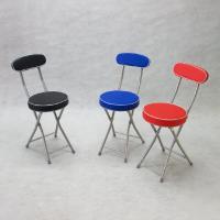BROTHER 兄弟牌丹堤有背折疊椅-可選(黑色)(紅色)(寶藍色)PU加厚座墊設計,4張/箱~家居休閒必備