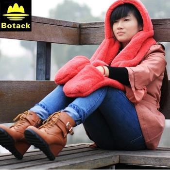 布特Botack三合一保暖圍巾手套一體朱雀保暖圍巾LMT4-9170