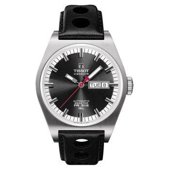 TISSOT Heritage PR 516 復刻版賽車運動腕錶-黑/40mm T0714301605100