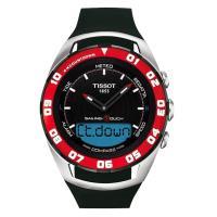 TISSOT Sailing Touch 風帆專業觸控腕錶-黑x紅框/45mm T0564202705100