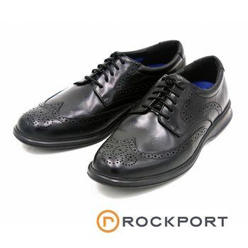 Rockport 馬拉松系列 DRESSPORTS 2 LITE雕花皮鞋-黑