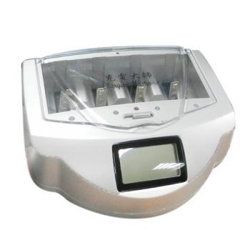 充電大師LCD液晶智慧環保多功能充電器(GS-4338)可充鹼性/鎳氫/鎳鎘電池-可一次充5種規格-環保不浪費