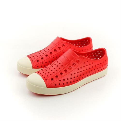 native JEFFERSON 洞洞鞋 紅色 男女鞋 no352
