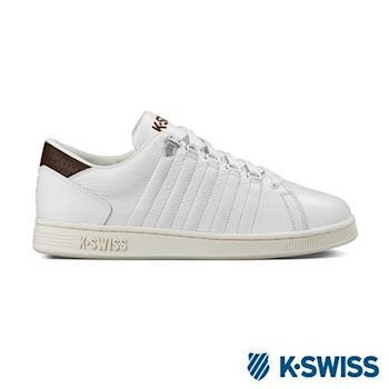 K-Swiss Lozan III經典休閒鞋-男-白/咖啡