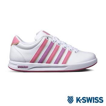 K-Swiss Court Pro S CMF運動休閒鞋-女-白/粉紅/粉紫