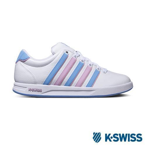 K-Swiss Court Pro S CMF運動休閒鞋-女-白/淺藍/淺紫
