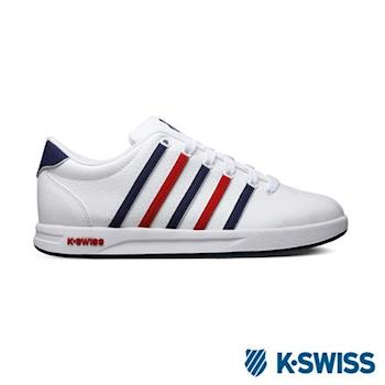 K-Swiss Court Pro S CMF休閒運動鞋-男-白/紅/藍