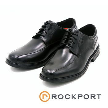 Rockport 綁帶皮鞋Essential Details II Bike Toe Oxford-黑