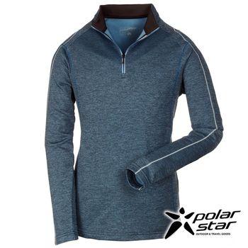 PolarStar 中性高領刷毛保暖衣『灰藍』P16243 │休閒│登山│露營│機能衣│刷毛衣