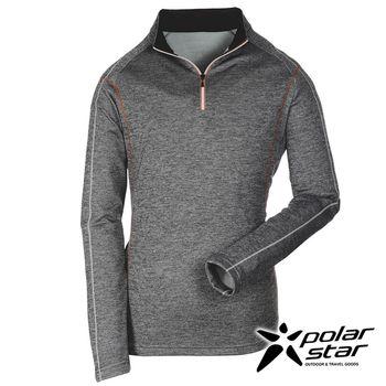 PolarStar 中性高領刷毛保暖衣『暗灰』P16243 │休閒│登山│露營│機能衣│刷毛衣