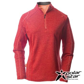 PolarStar 女高領刷毛保暖衣『暗紅』P16244 │休閒│登山│露營│機能衣│刷毛衣