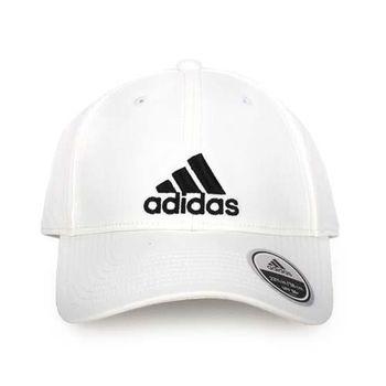 【ADIDAS】運動帽-帽子 鴨舌帽 防曬 愛迪達 白黑
